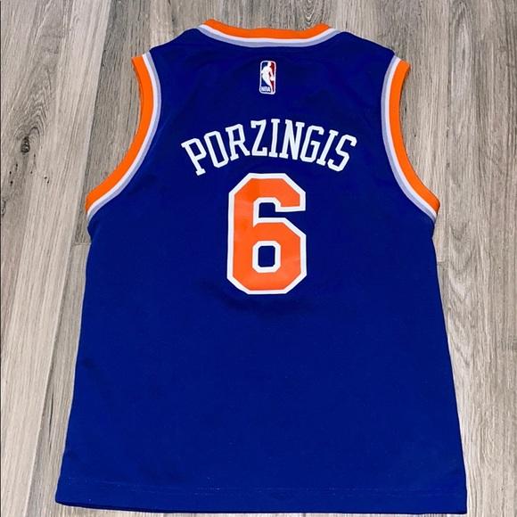 New York Knicks Kristaps Porzingis #6 Blue Jersey